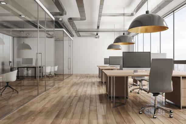 現代辦公室內, 城市景觀 - 無人 個照片及圖片檔
