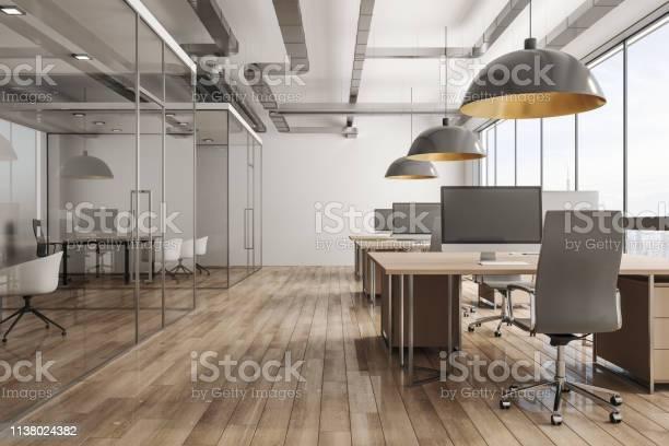 Modernes Bürointerieur Mit Blick Auf Die Stadt Stockfoto und mehr Bilder von Architektur