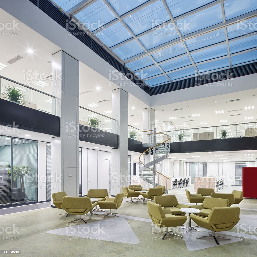 Modern Office Lobby Hall Interior Royalty Free Stock Photo