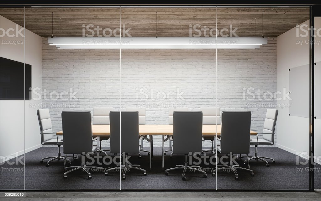 Modern Office Meeting Room Interior stock photo
