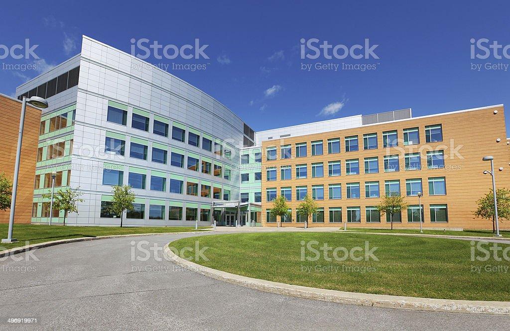 Modern Office Park Building Exterior