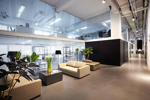 moderne büro - foyerdesign stock-fotos und bilder