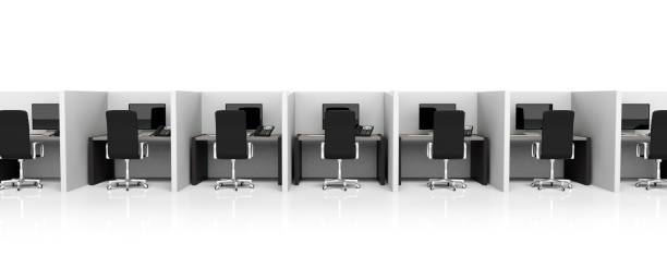 modern office - office cubicle stock pictures, royalty-free photos & images