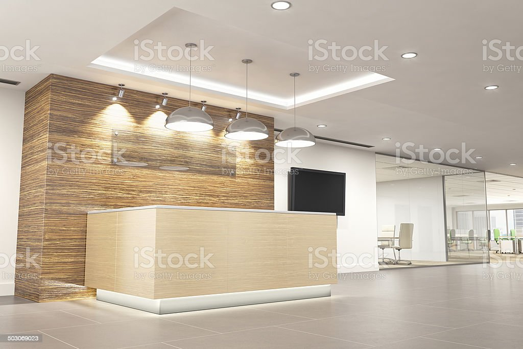 Modern office reception Front Desk Modern Office Reception Stock Image Istock Modern Office Reception Stock Photo More Pictures Of Architecture