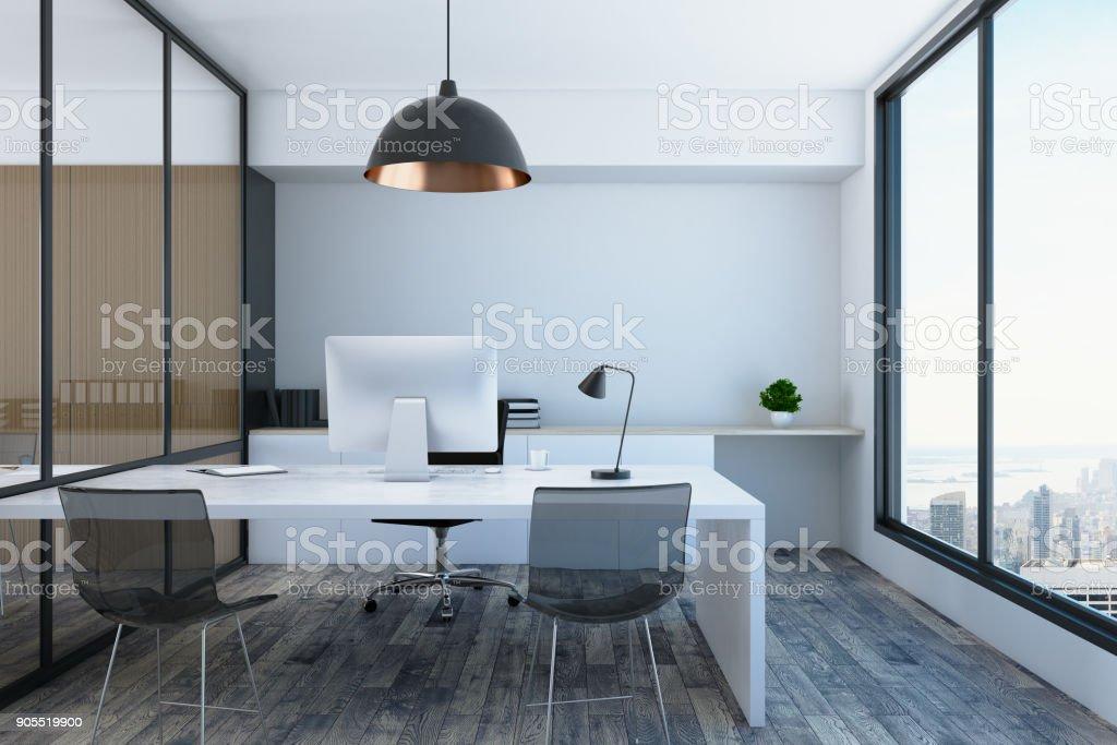 Modern office room stock photo