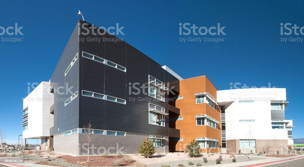 Modern Office, School or Hospital Building Exterior