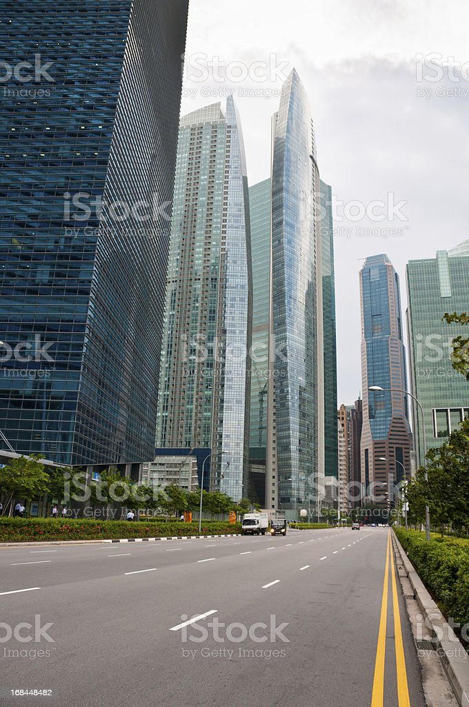 Modern Office Skyscrapers In Singapore royalty-free stock photo