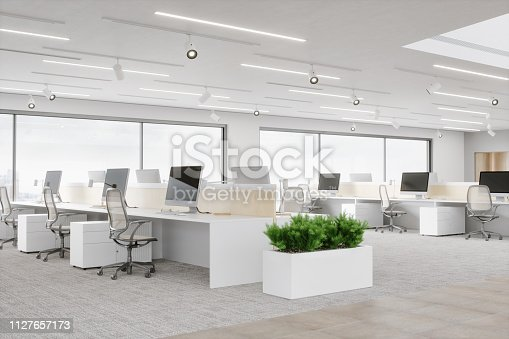 Interior of an empty modern office space.