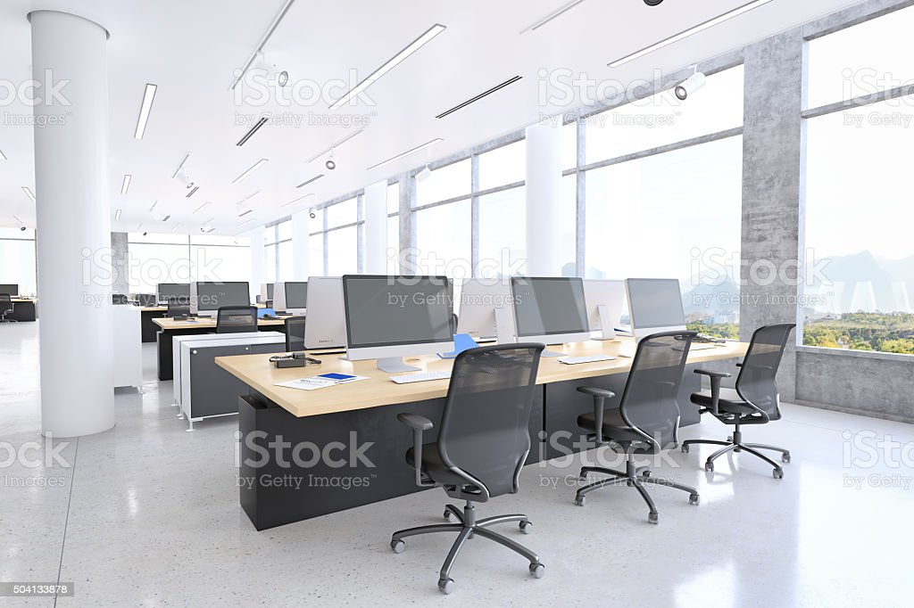 Modern office space Small Modern Office Space Stock Image Istock Modern Office Space Stock Photo More Pictures Of Bright Istock