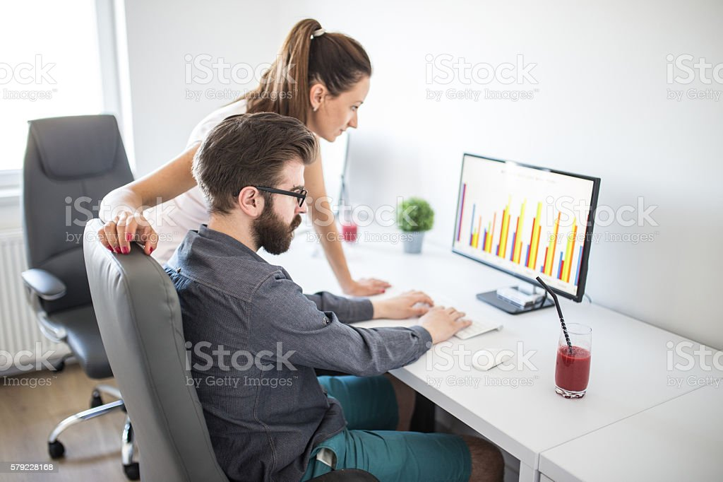 Modern office team stock photo