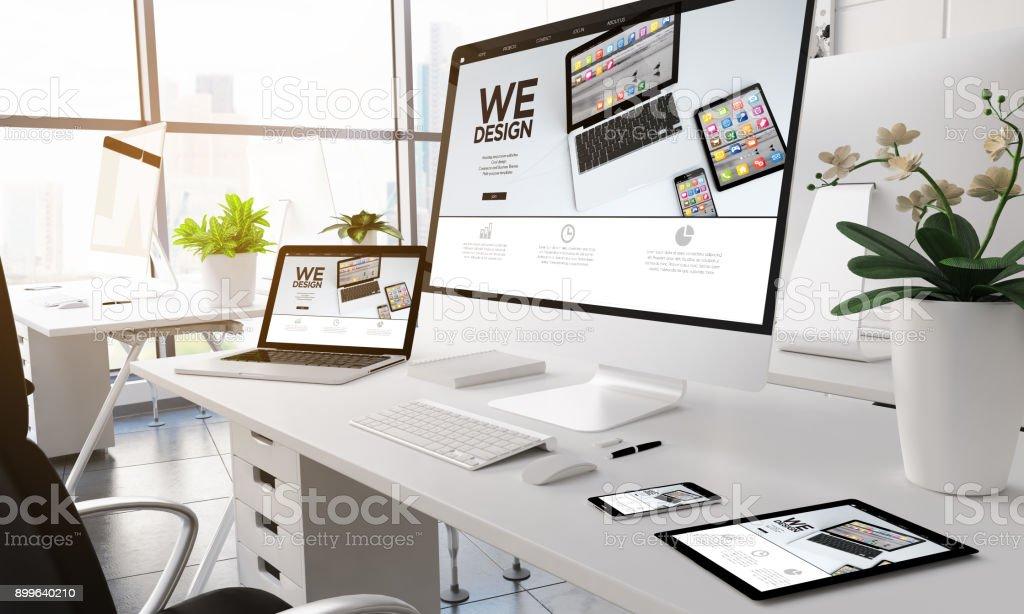 Moderne Büro-Geräte zu entwerfen. – Foto