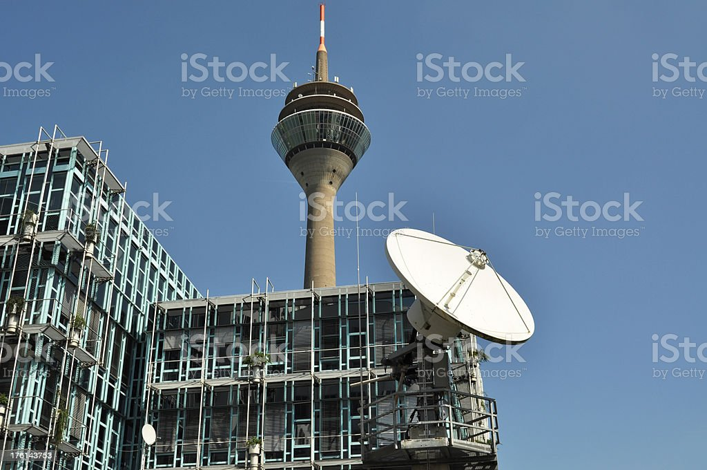 Modern Office with Dish Antenna royalty-free stock photo