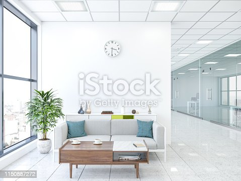 Modern office with lobby