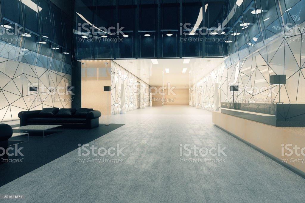 Bureau moderne avec réception et salon u photos et plus d images