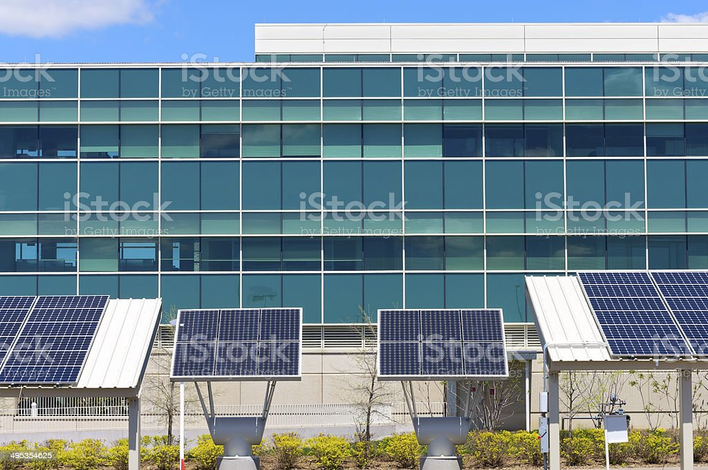 Modern Office with Solar Power stock photo