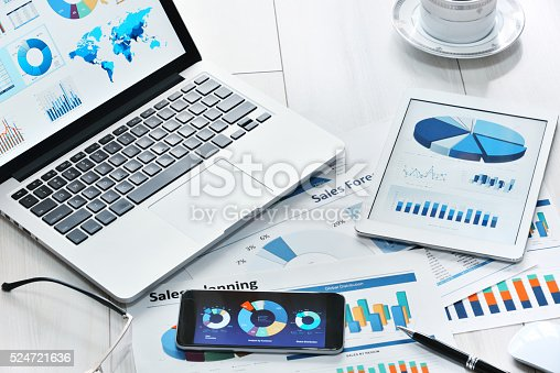 istock Modern office workplace 524721636