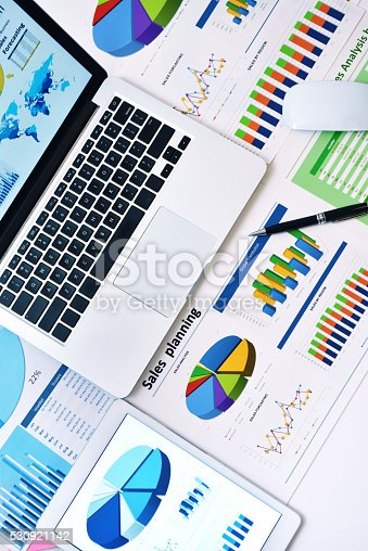 istock Modern office workplace 530921142