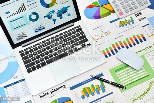 istock Modern office workplace 530921372