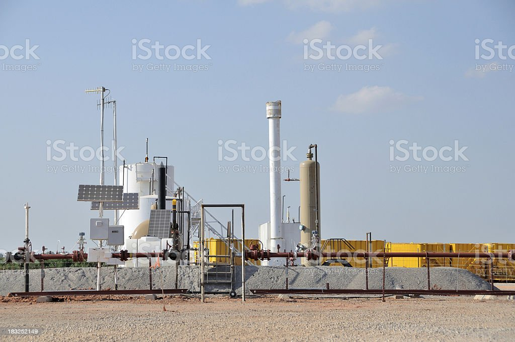 Modern Oil and Gas Well Site stock photo