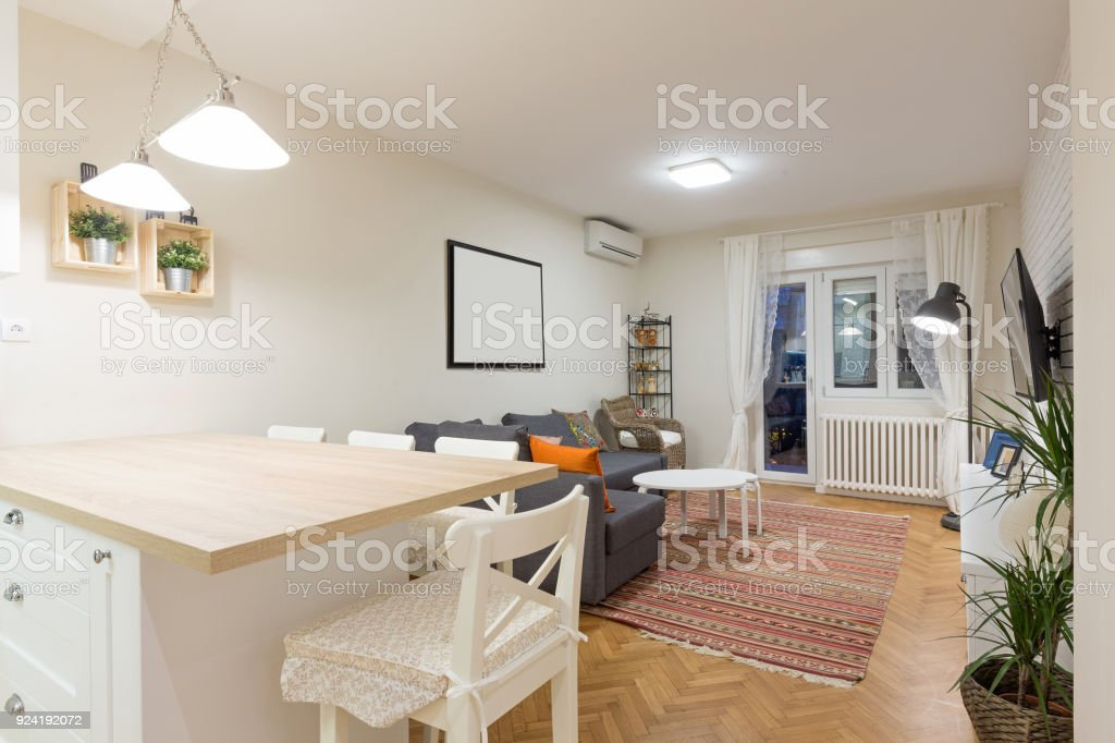 Fotograf a de moderna planta abierta sala de estar for Cocina de planta abierta sala de estar