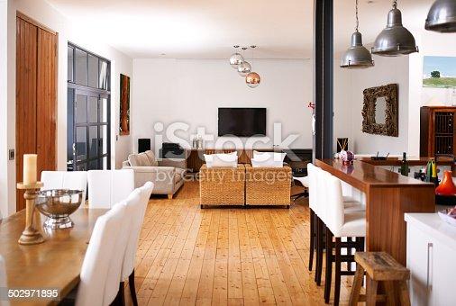 istock Modern open-plan living 502971895