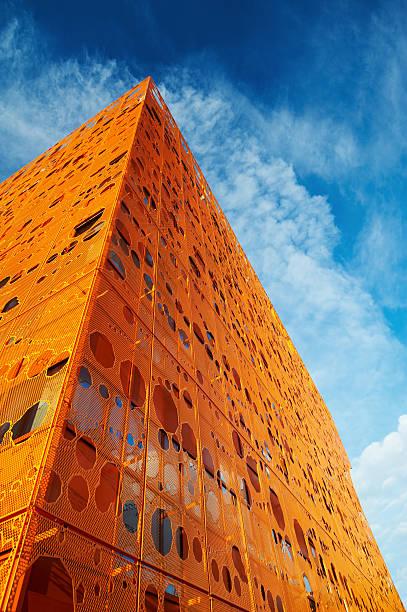Moderno edificio de orange - foto de stock