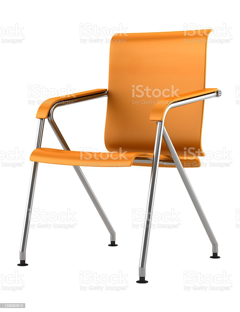 modern orange chair isolated on white background royalty-free stock photo