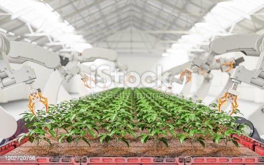Modern Organic Farmhouse With Robotic Arm