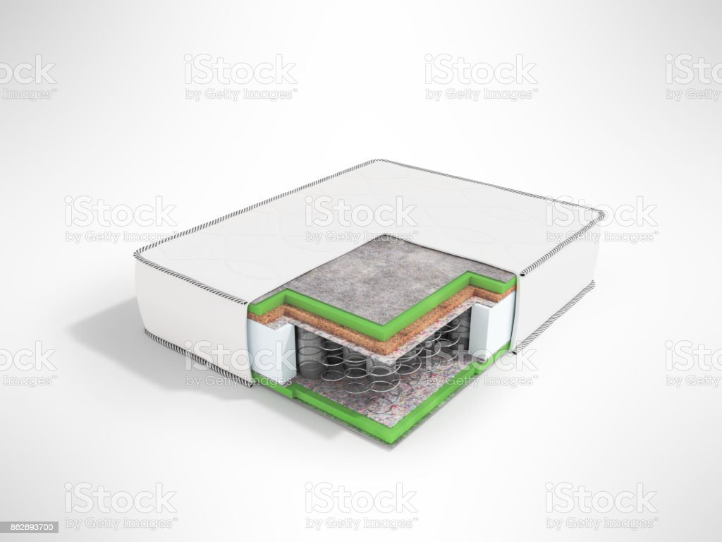 Modern Orthopedic Mattress White Dismantled In A Section With Springs Stock Images Page Everypixel