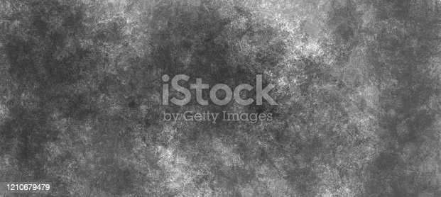 534130204 istock photo Modern painting overlay background  in black and white colors. Monochrome random paint brushstrokes on canvas. Contemporary illustration 1210679479