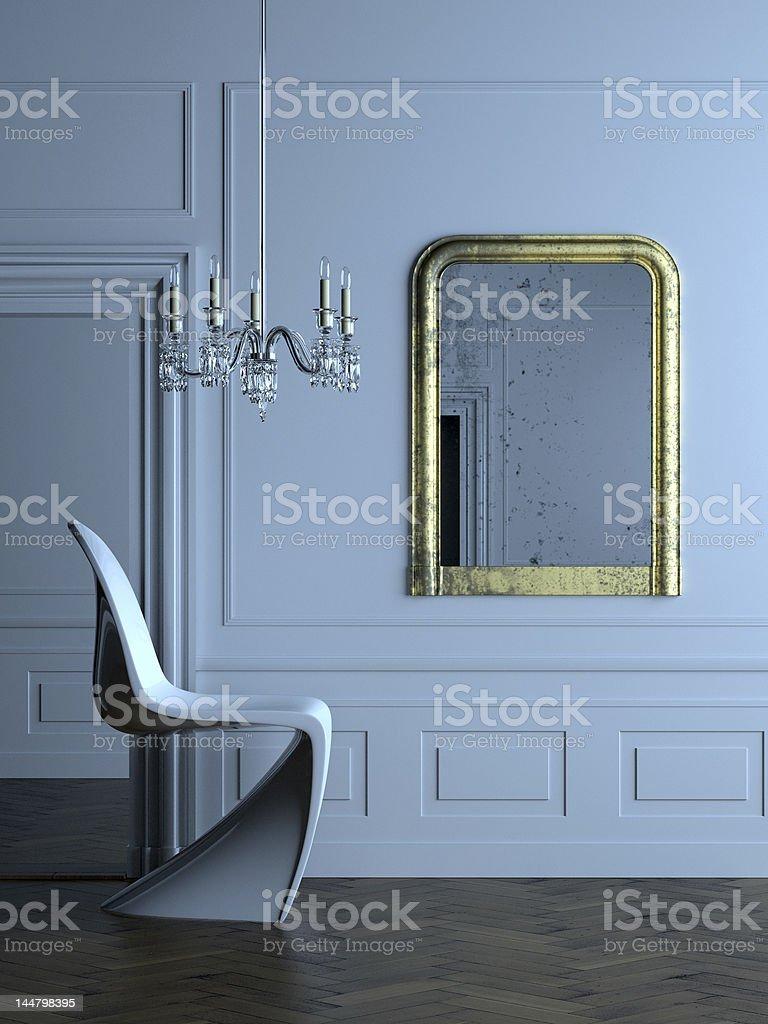 modern Parisian interior 2 stock photo