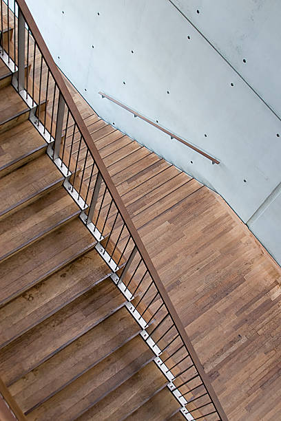 Scala Moderna In Parquet Stock Photo & More Pictures of