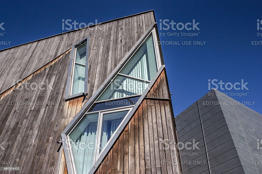 Modern part of the Felix-Nussbaum-Haus museum in Osnabruck royalty-free stock photo