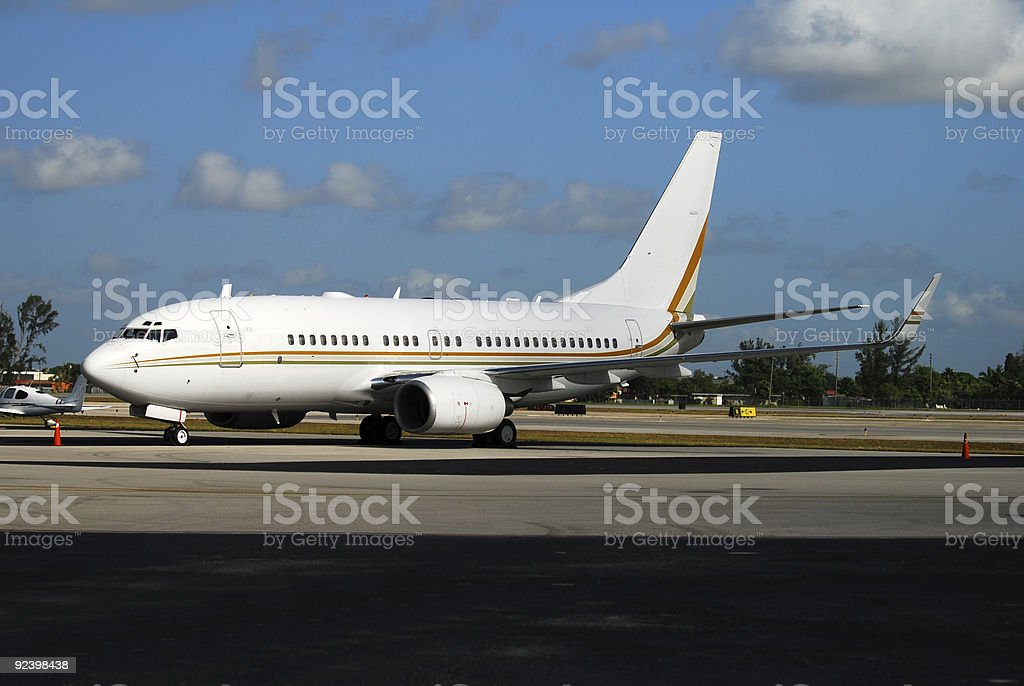 Modern passenger jet airplane royalty-free stock photo