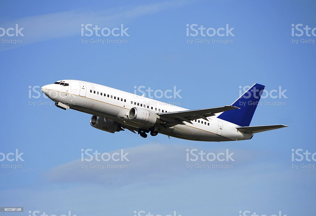 Modern passenger jet royalty-free stock photo