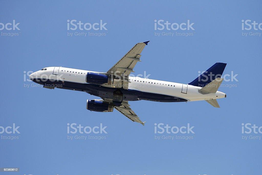 Modern passenger jet stock photo
