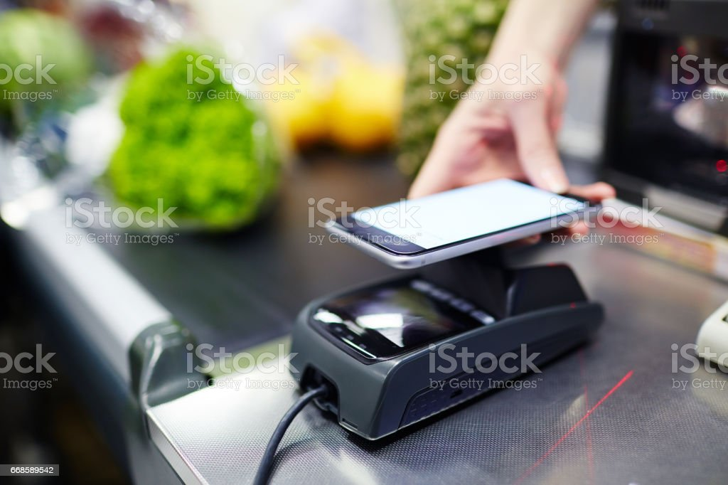 Modern payment stock photo