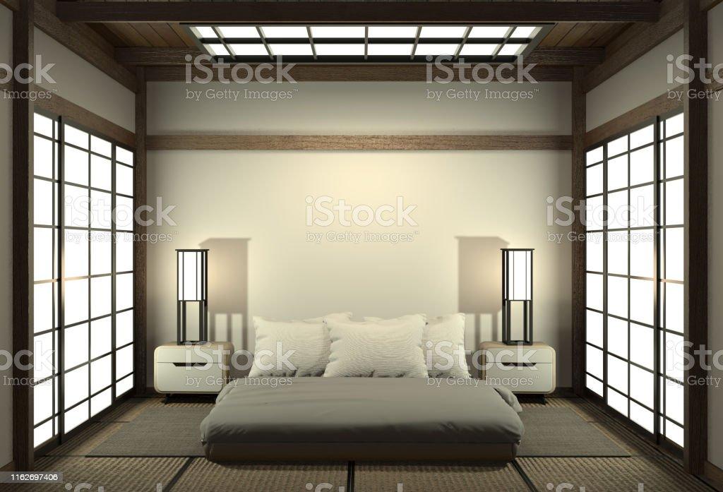 Modernes Ruhiges Schlafzimmer Zenstil Schlafzimmer Und ...