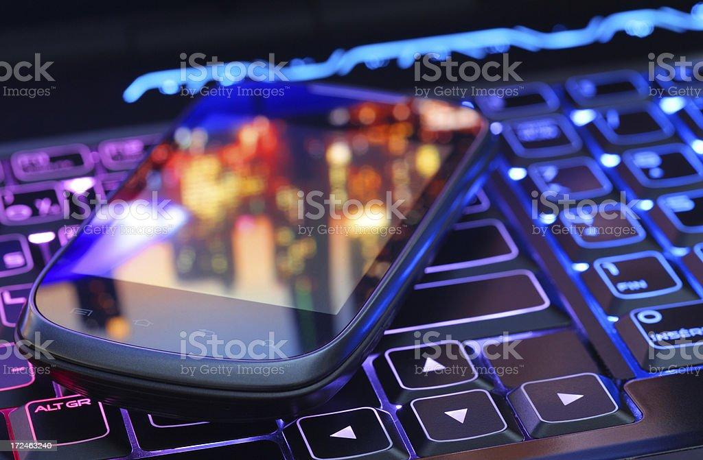 Modern Personal Communication Technologies royalty-free stock photo