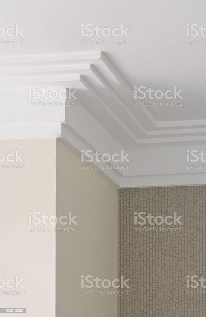 modern plaster cornice royalty-free stock photo