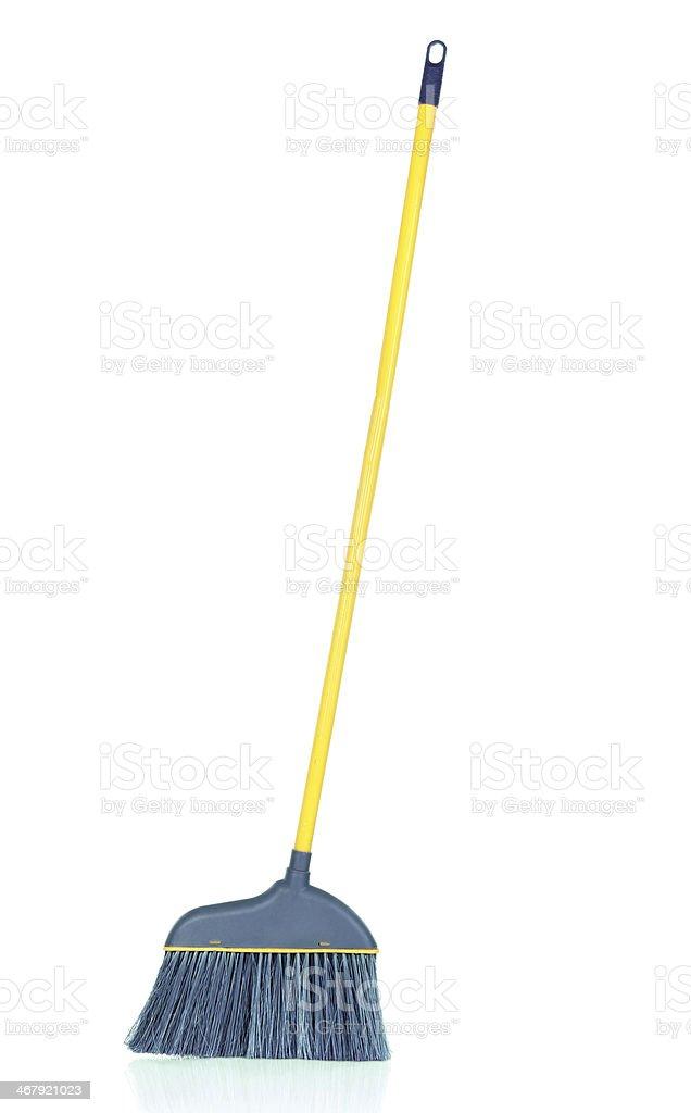 modern plastic broom stock photo
