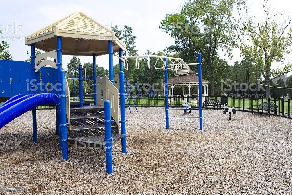 Modern Playground Equipment Childrens' Park royalty-free stock photo