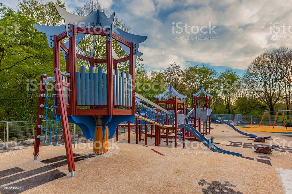 Modern playground stock photo