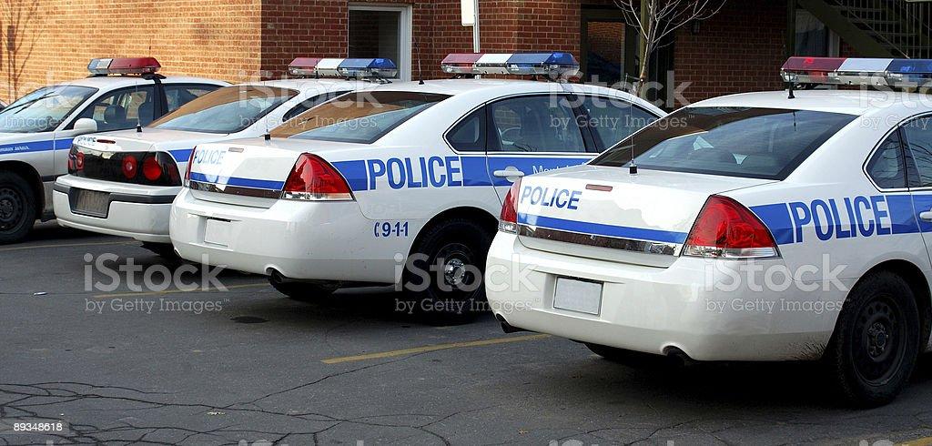 Modern police car stock photo