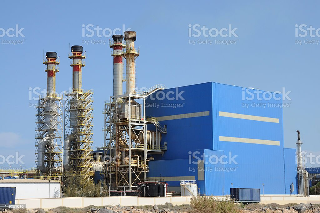 Modern Power Station royalty-free stock photo
