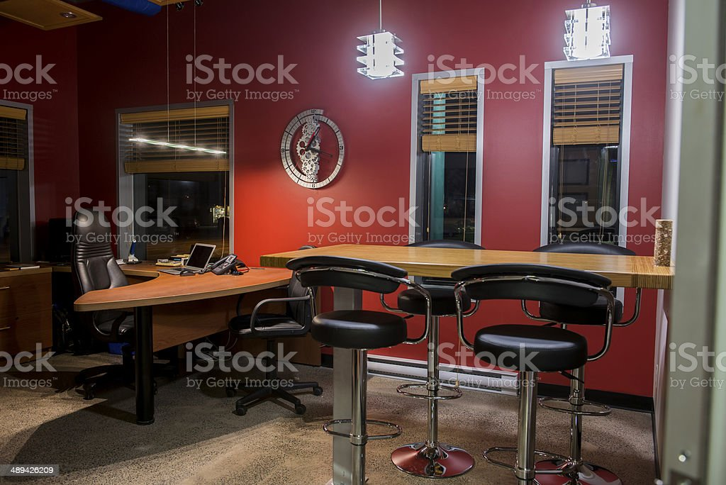 Modern president office stock photo