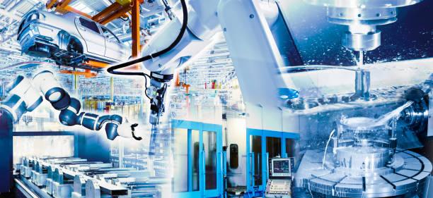 Moderne Produktion im Industriebetrieb – Foto