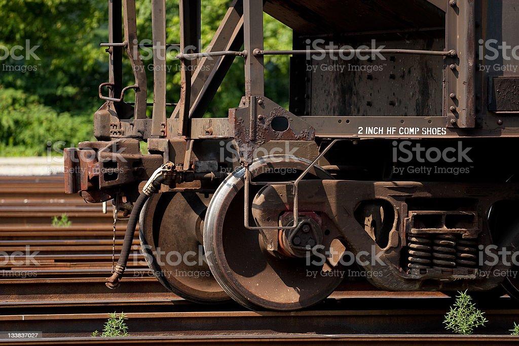Modern Railroad Steel Wheels Stock Photo - Download Image
