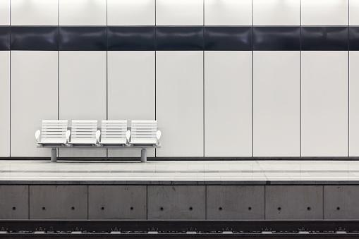 Moderne Railway Station Plattform Stockfoto und mehr Bilder von 2015