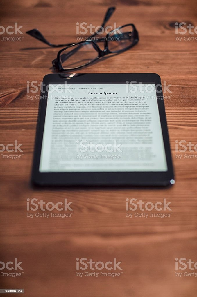 modern reading royalty-free stock photo